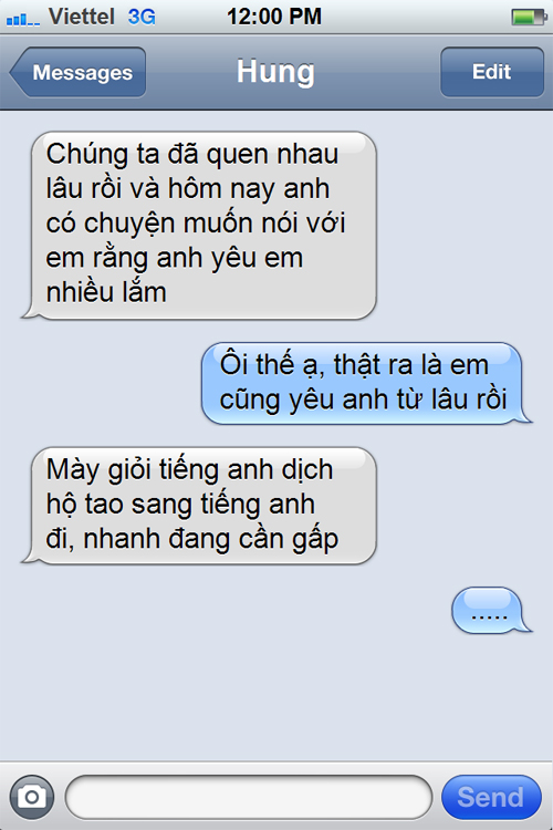 Những tin nhắn điện thoại hài hước nhất troll cho người yêu, bạn bè