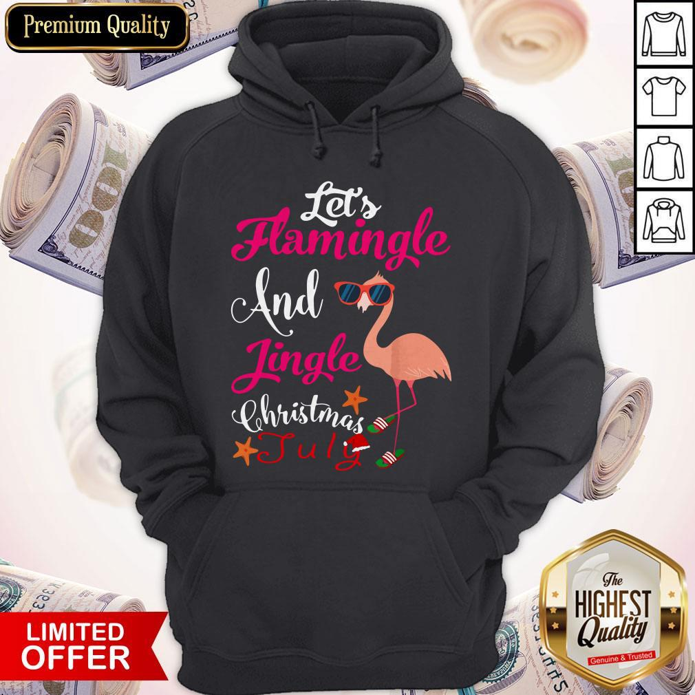 Let's Flamingle And Jingle Christmas In July Shirt