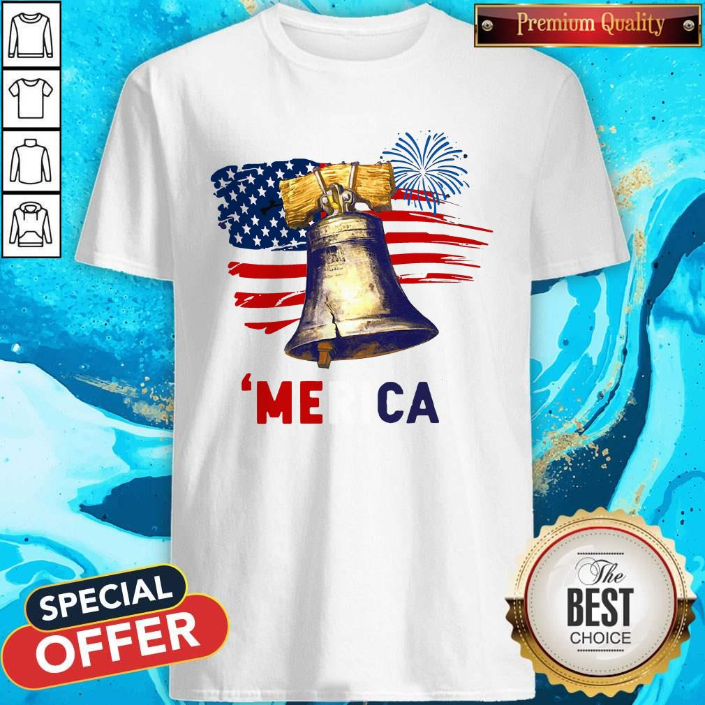 Liberty Bell 'Merica 4th Of July American Flag Shirt