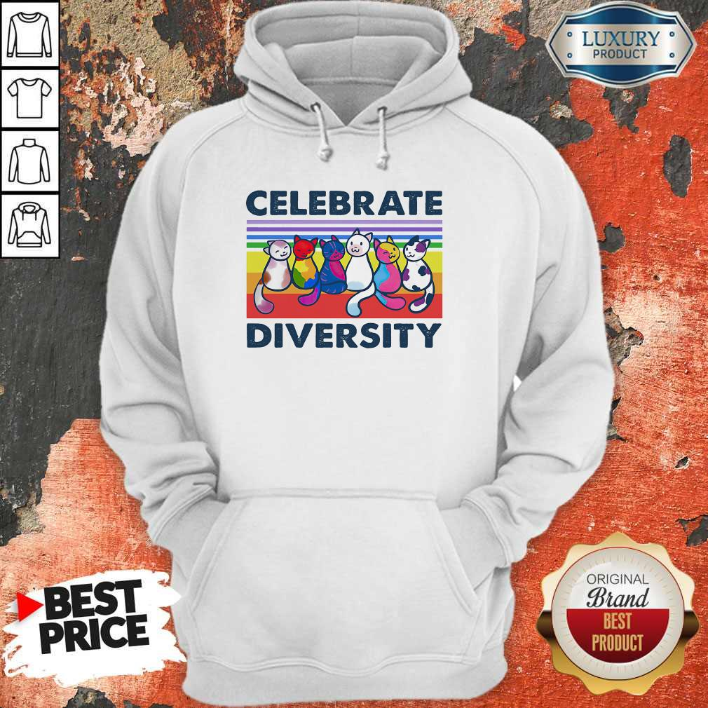 Awesome Cats Celebrate Diversity Vintage Shirt
