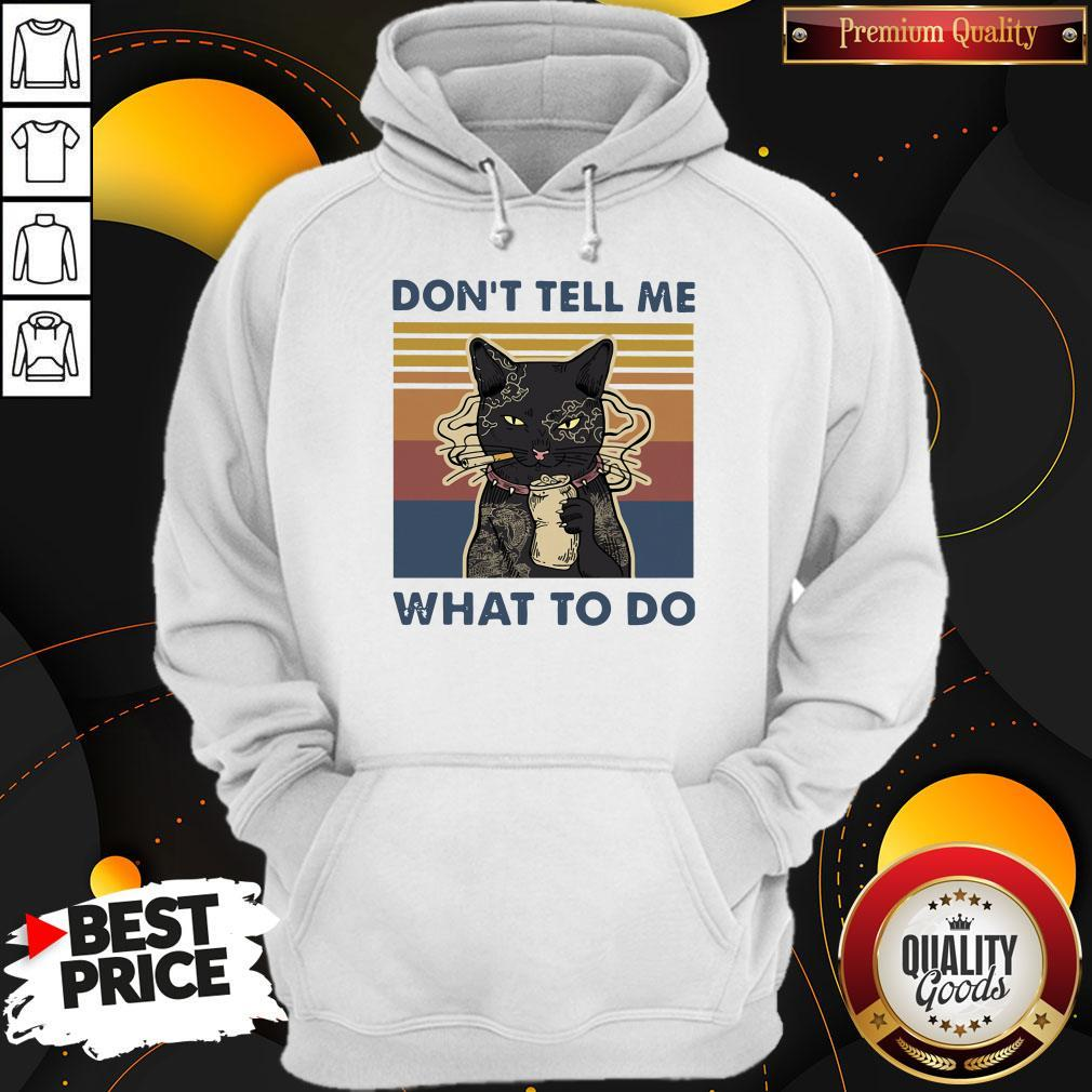 Cat Don't Tell Me What To Do Vintage Shirt